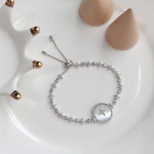 Apm Monaco Silver Mother-Of-Pearl Bracelet